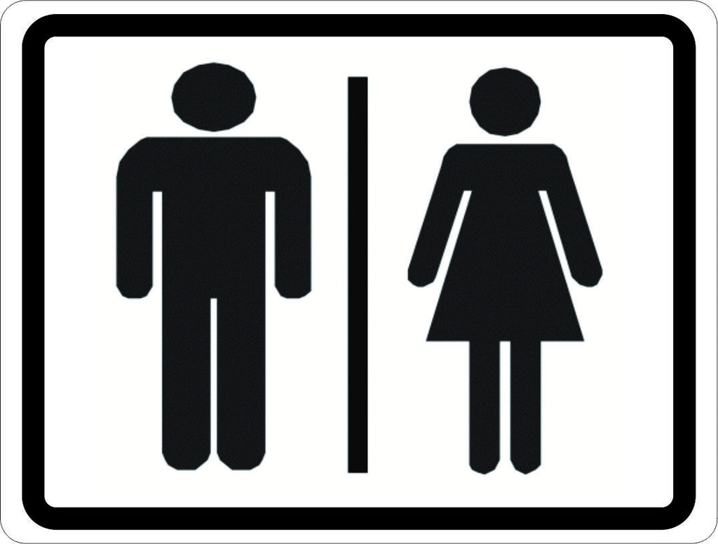 Men And Women Bathroom Sign Awesome Man And Woman Symbol Restroom Sign  Signssalagraphics Design Decoration