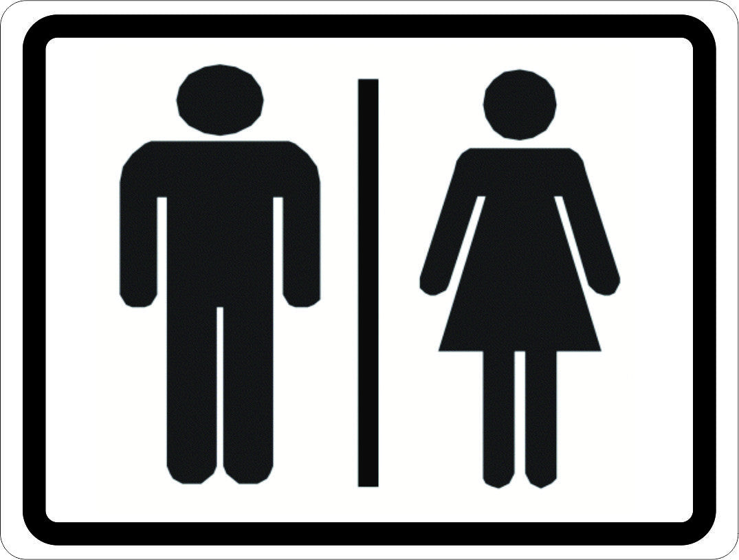 Man and Woman Symbol Restroom Sign - Signs by SalaGraphics