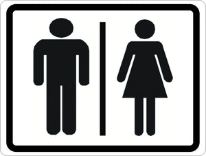 Man and Woman Symbol Restroom Sign - Signs & Decals by SalaGraphics