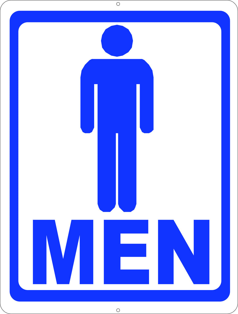 Mens Room W/ Symbol Bathroom Sign