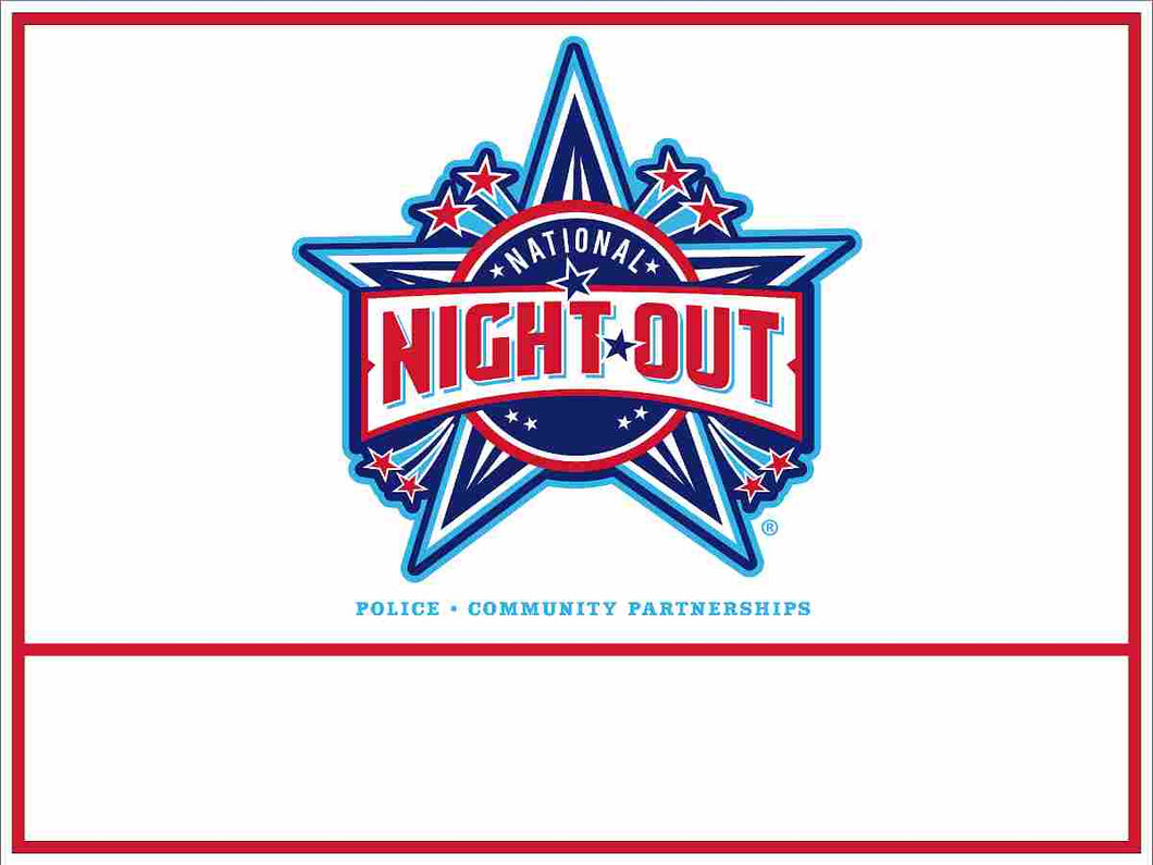 National Night Out Yard Sign