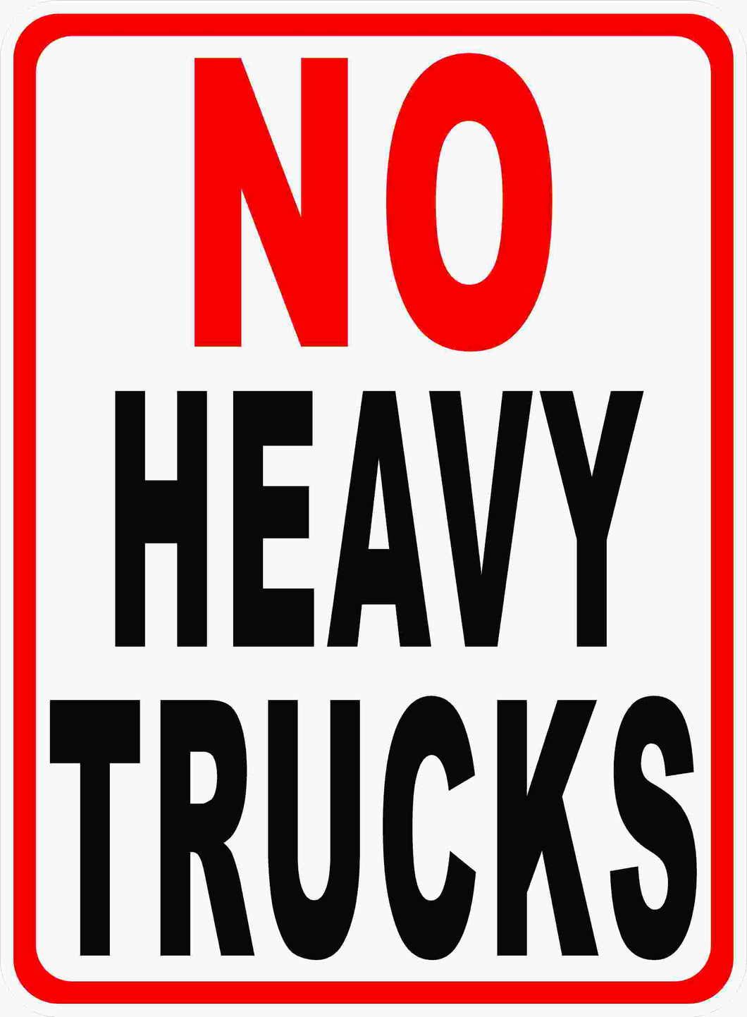 No Heavy Trucks Sign