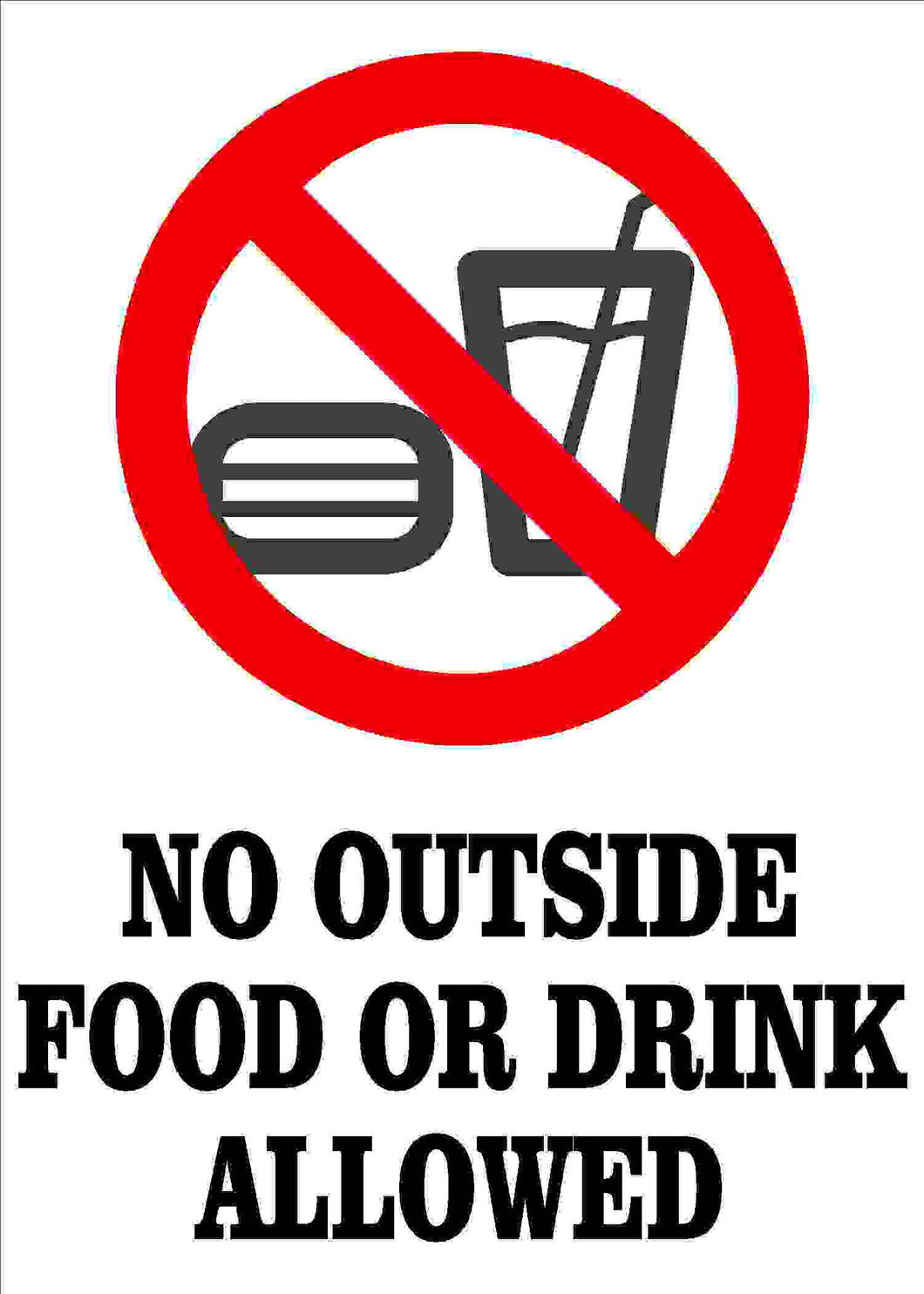 No Food or Drink Decal