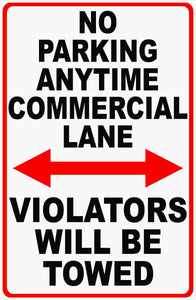 Commercial Parking Sign