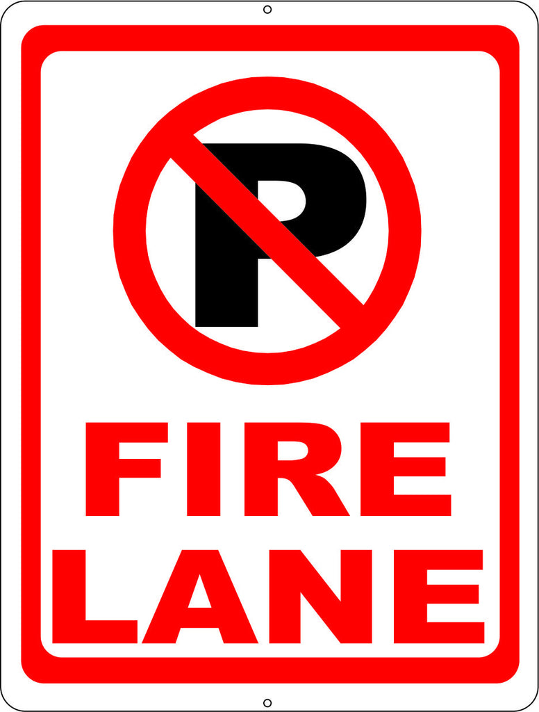 No Parking Fire Lane Sign with Symbol - Signs & Decals by SalaGraphics