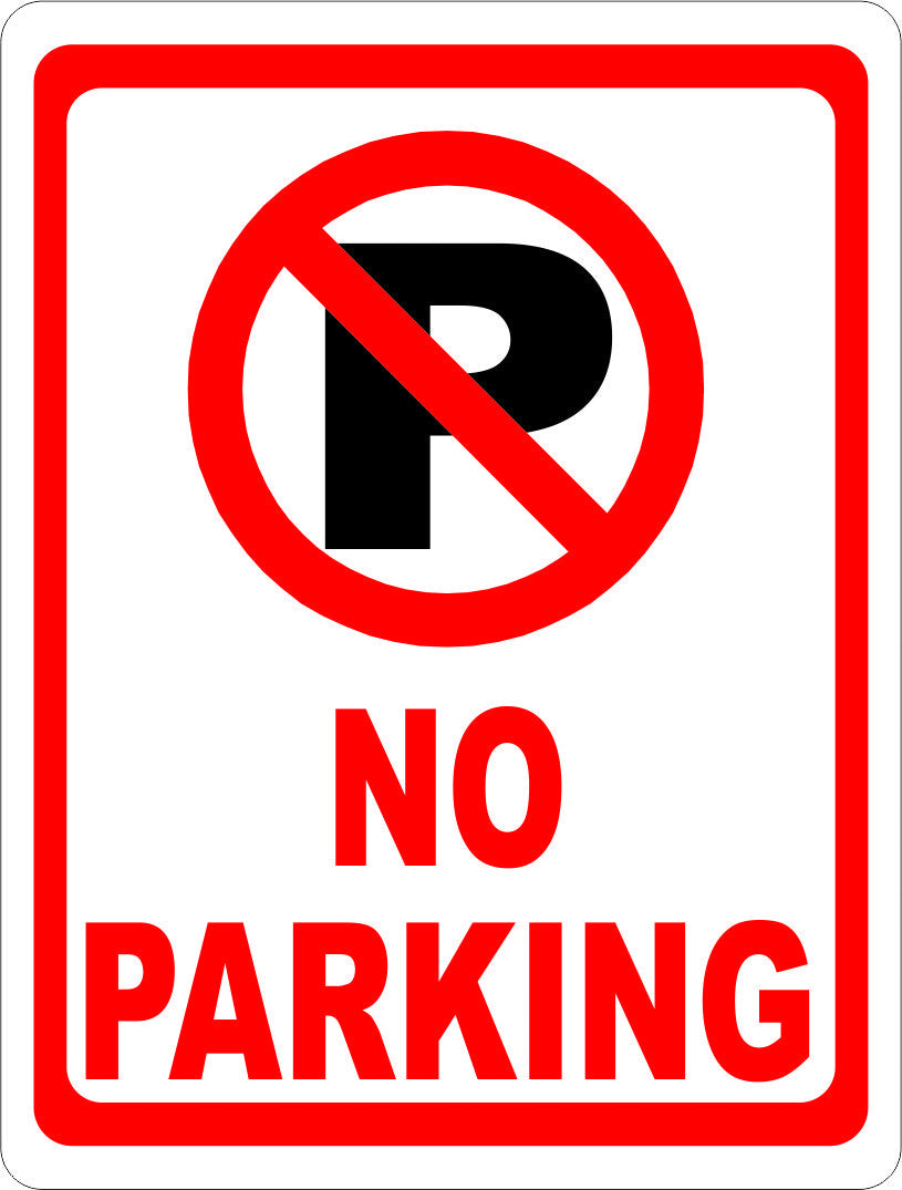 No Parking Sign with Symbol - Signs & Decals by SalaGraphics