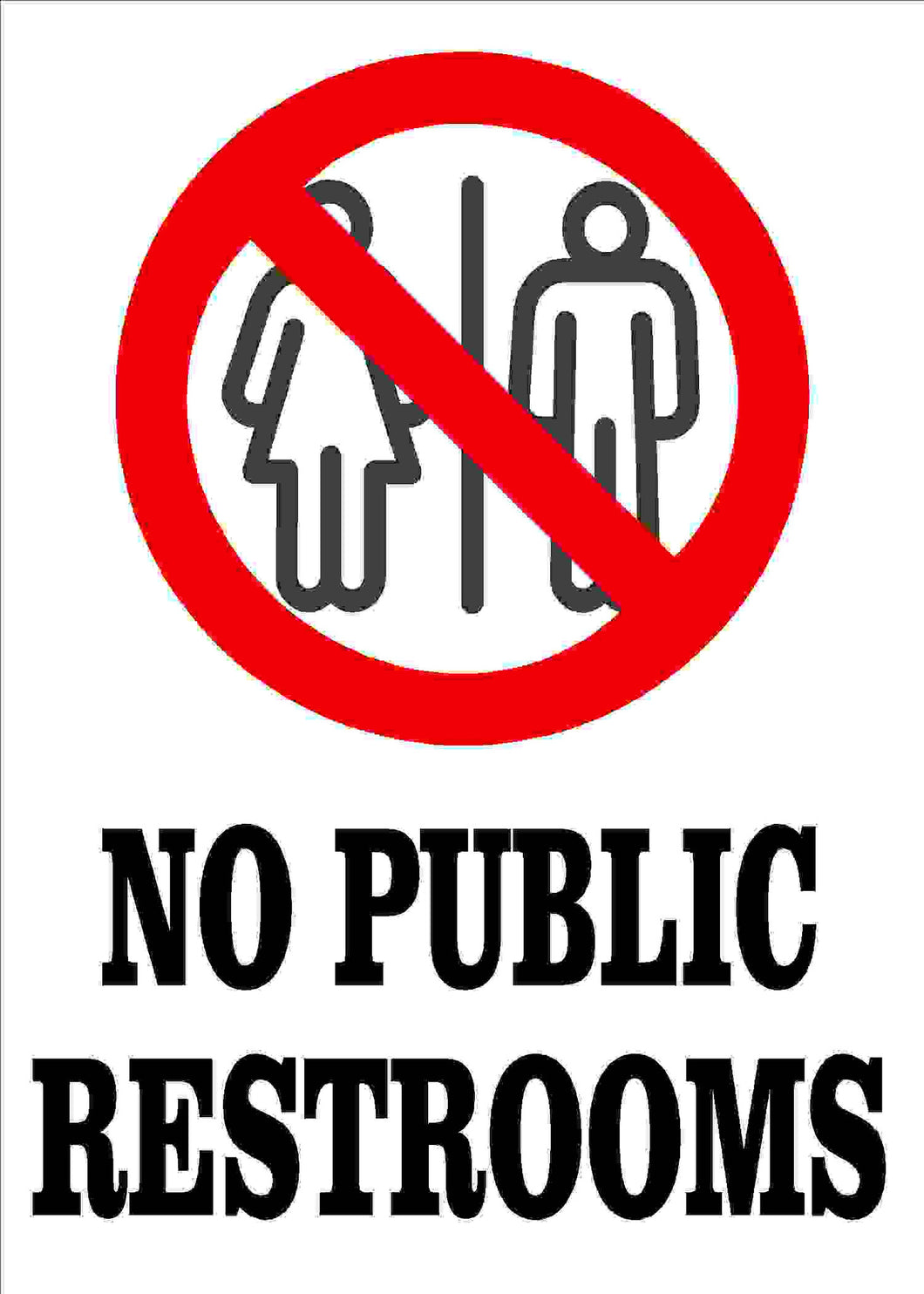 No Public Restrooms Decal