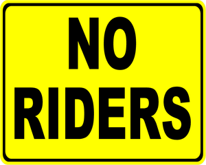 No Riders Decal (Set of 5)