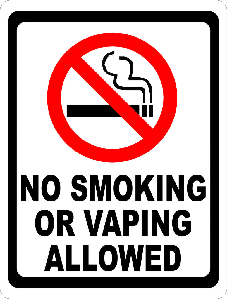 No Smoking or Vaping Allowed Sign - Signs & Decals by SalaGraphics