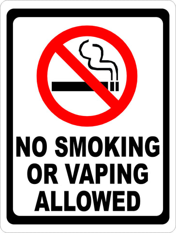 No Smoking or Vaping Allowed Sign
