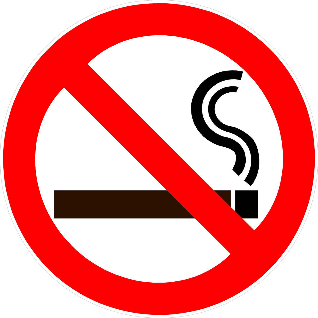 No Smoking Decal - Signs & Decals by SalaGraphics