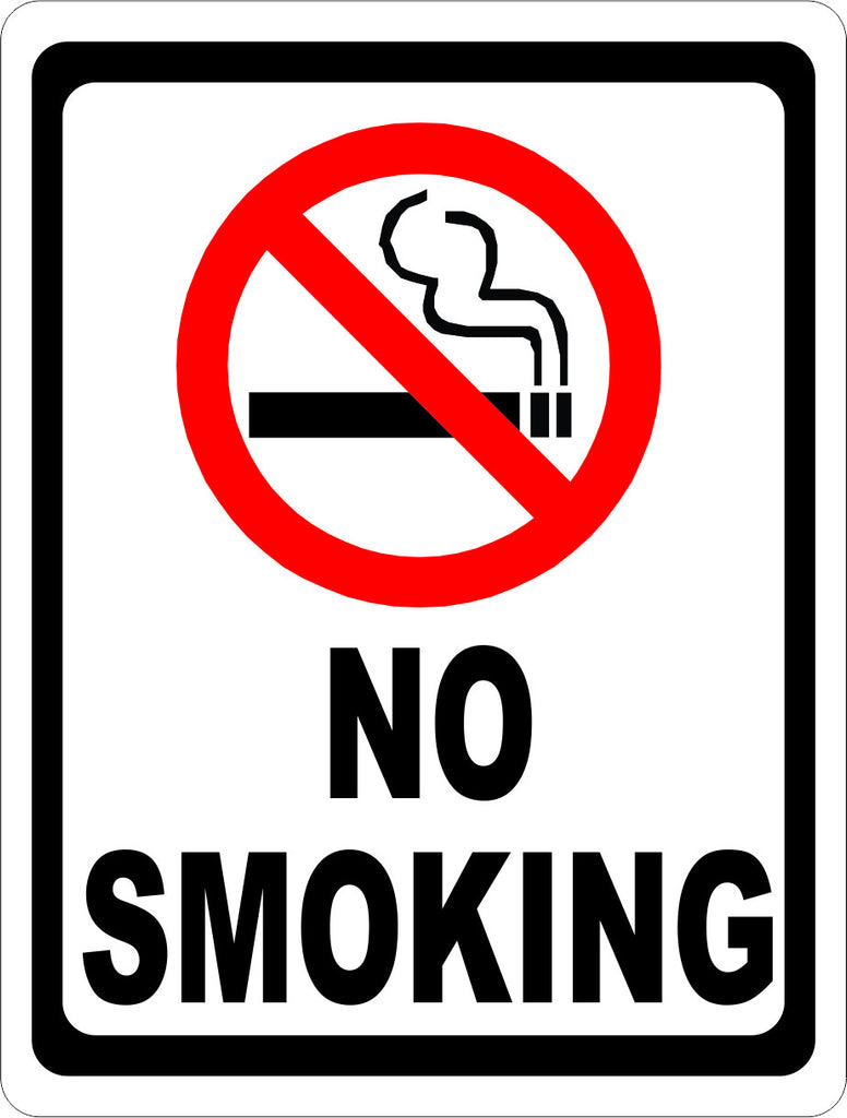 No Smoking Sign with Symbol - Signs & Decals by SalaGraphics