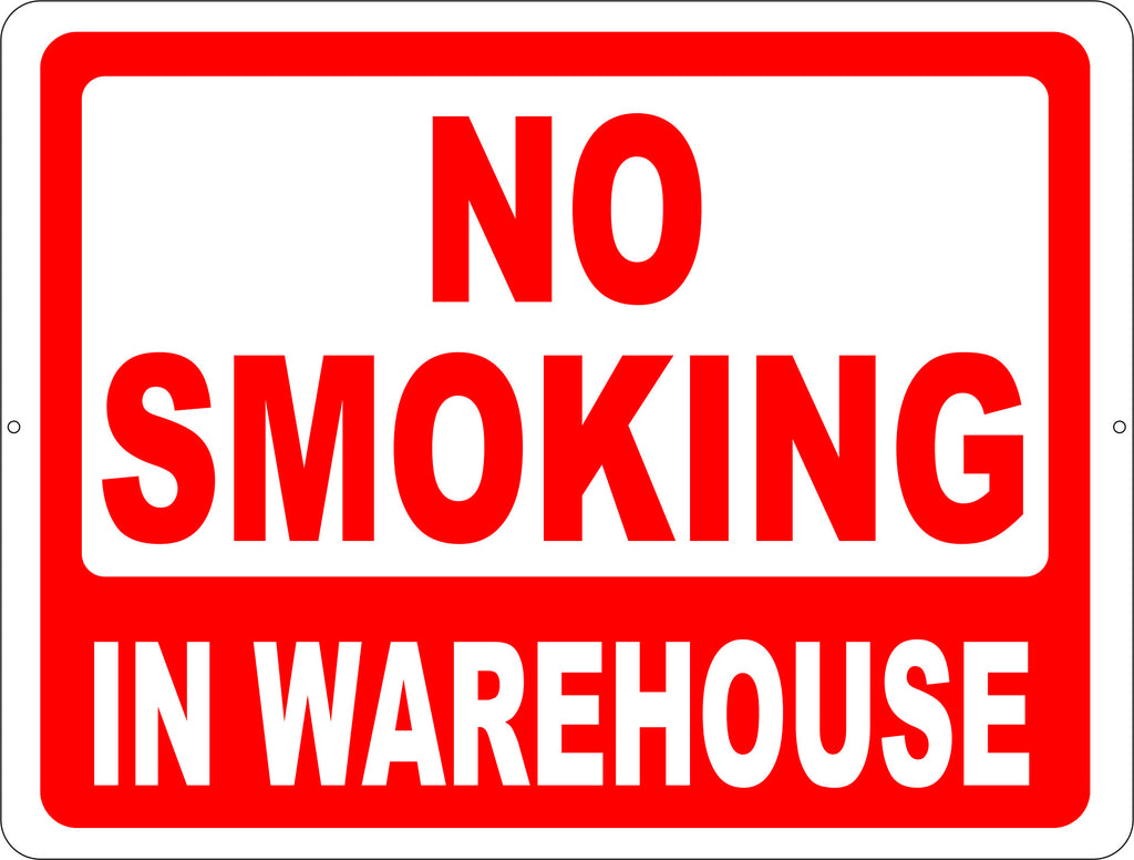 No Smoking in Warehouse Sign - Signs & Decals by SalaGraphics