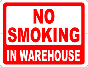 No Smoking in Warehouse Decal - Signs & Decals by SalaGraphics