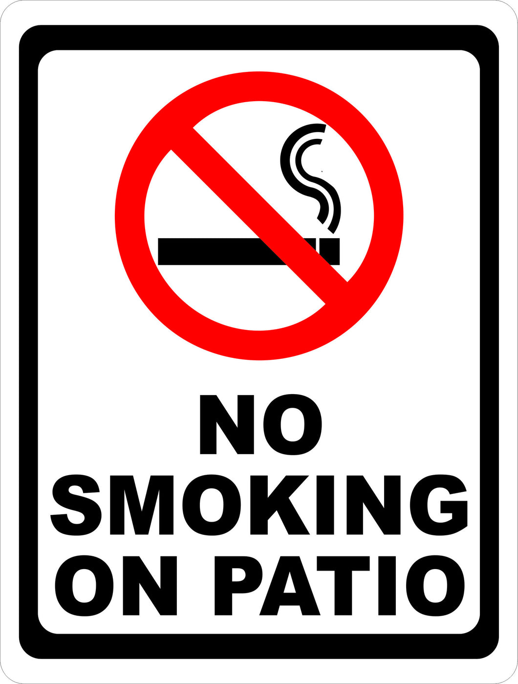 No Smoking on Patio Sign - Signs & Decals by SalaGraphics