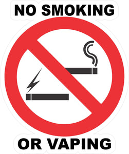No Smoking or Vaping Decal - Signs & Decals by SalaGraphics