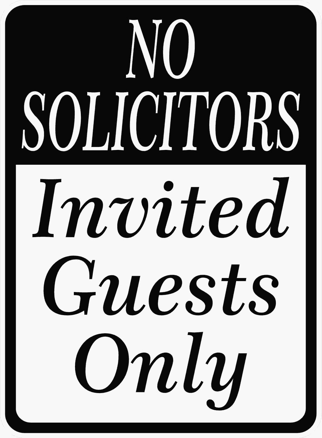 No Solicitors Sign by Sala Graphics
