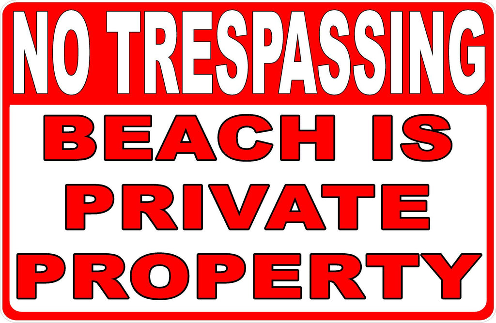 Private Beach Sign by Sala Graphics