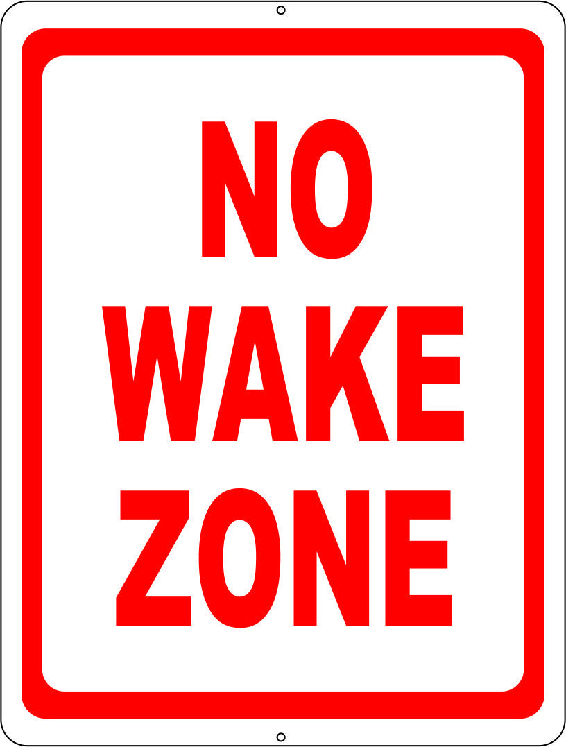 No Wake Zone Sign - Signs & Decals by SalaGraphics