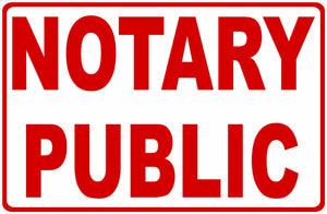 Notary Public Service Sign by Sala Graphics