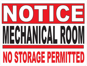 Mechanical Room Sign by Sala Graphics