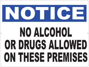No Alcohol or Drugs Allowed Decal