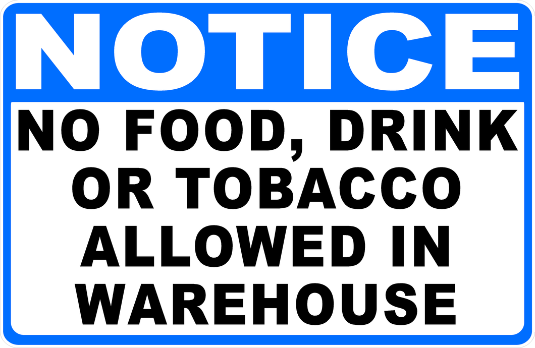 Warehouse Regulations Sign