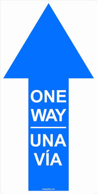 One Way Directional Arrow Outdoor Floor Decal 6