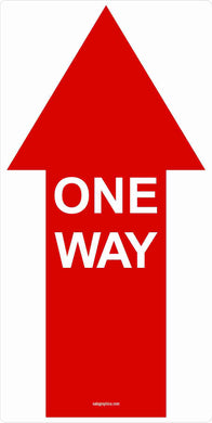 One Way Directional Arrow Indoor Floor Decal SCRATCH & DENT OFFPRINTS 6