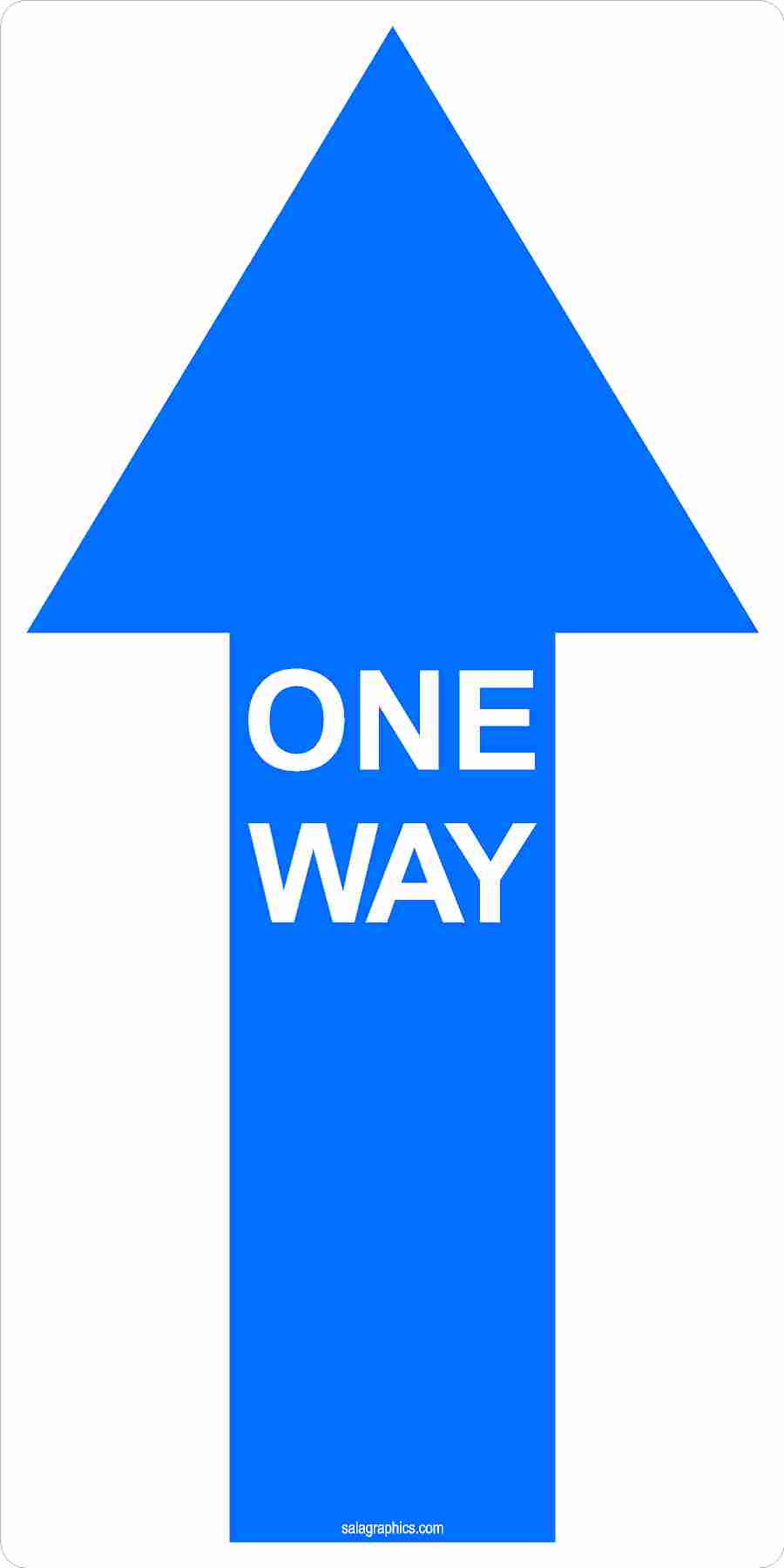 One Way Directional Arrow Indoor Floor Decal 6