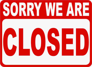2-Sided Open Closed Business Sign