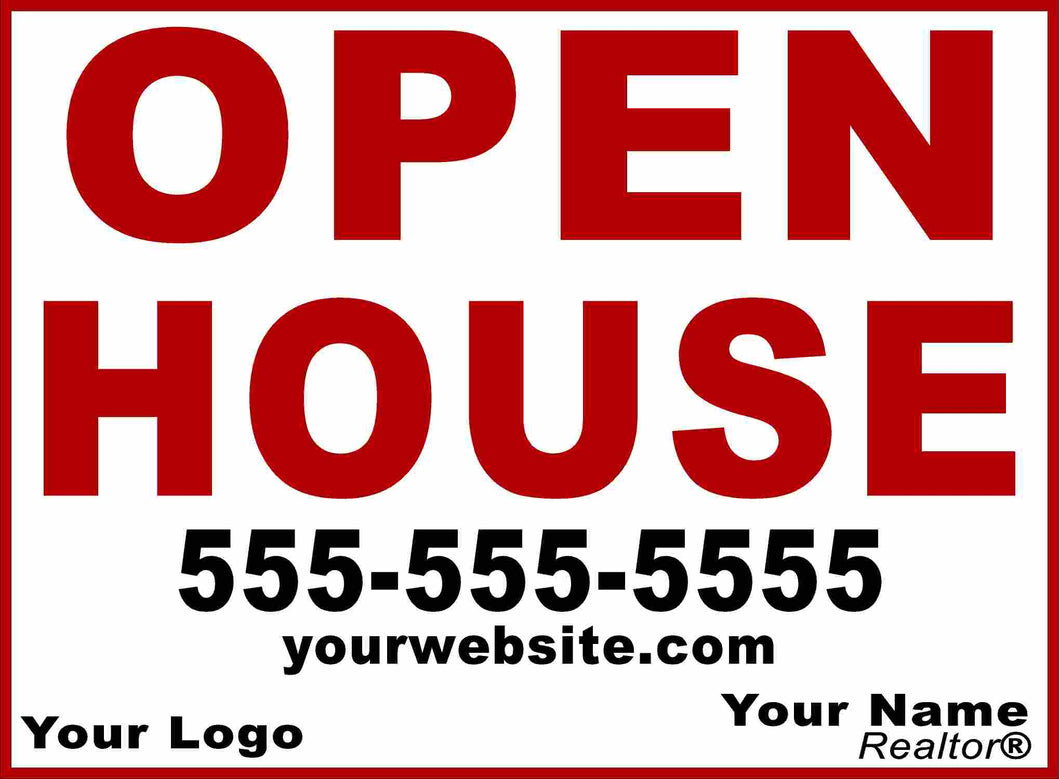 Custom Open House Yard Sign by Sala Graphics