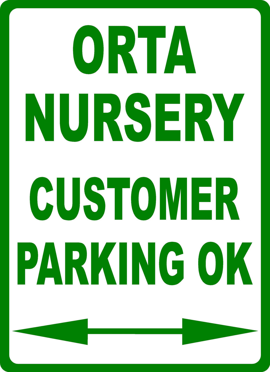 Custom Business Parking Sign - Signs & Decals by SalaGraphics