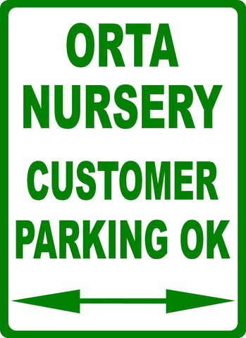 Custom Business Parking Sign