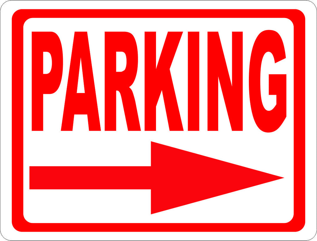 Parking Sign with Directional Arrow. – Signs by SalaGraphics