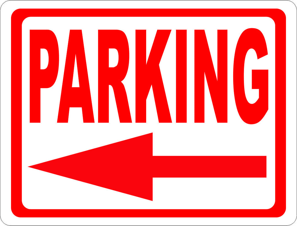 Parking Sign with Directional Arrow. - Signs & Decals by SalaGraphics