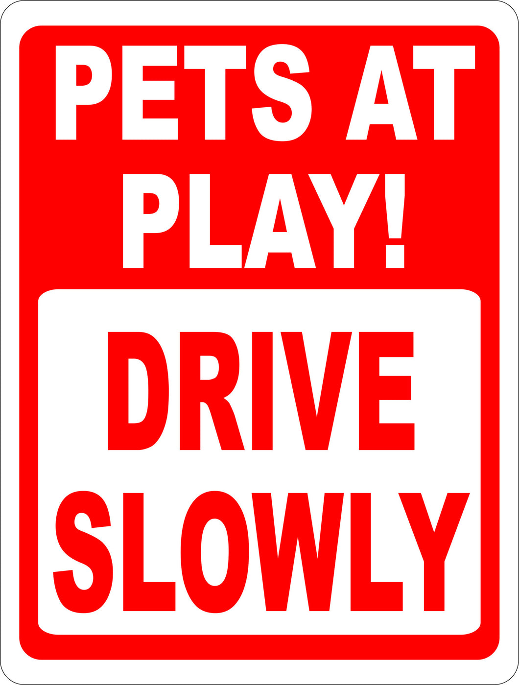 Pets at Play Sign