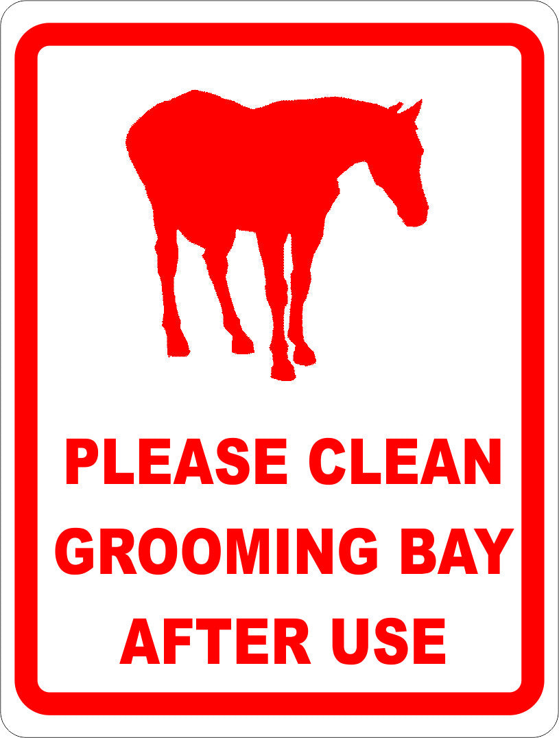 Please Clean Grooming Bay After Each Use Sign - Signs & Decals by SalaGraphics
