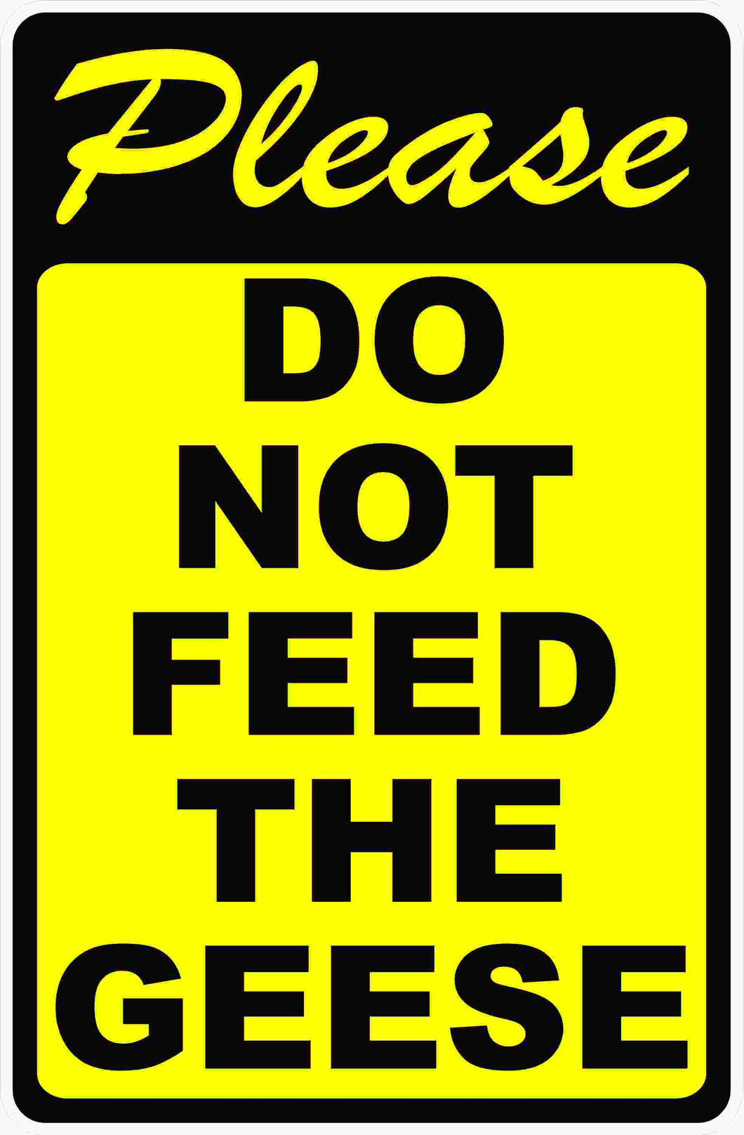Do Not Feed Geese Sign