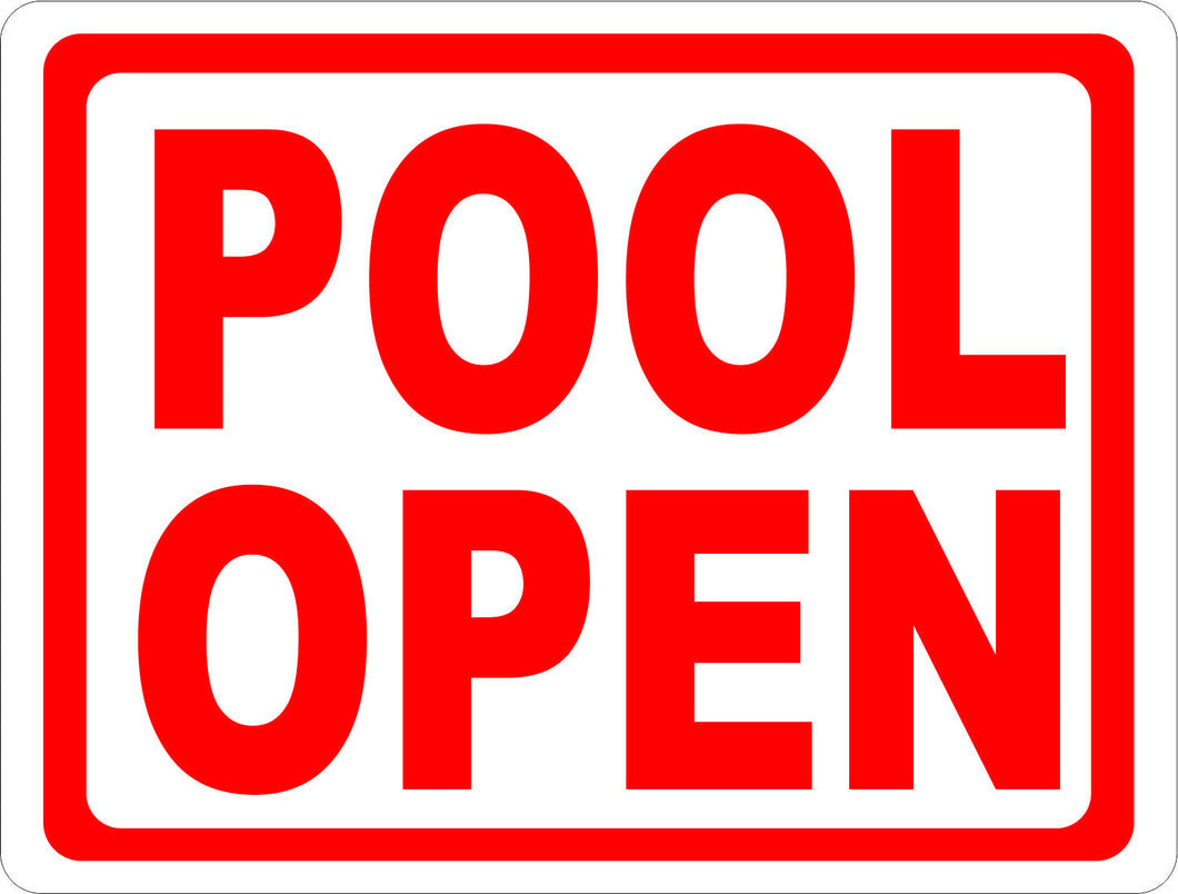 Pool Open Sign - Signs & Decals by SalaGraphics