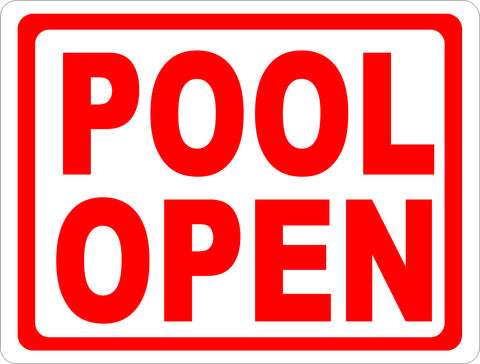 Pool Open & Closed 2-Sided Sign
