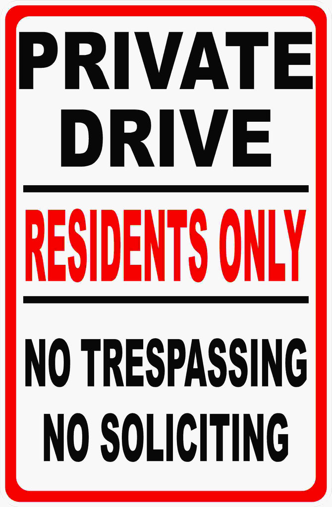 Residents Only Sign by Sala Graphics