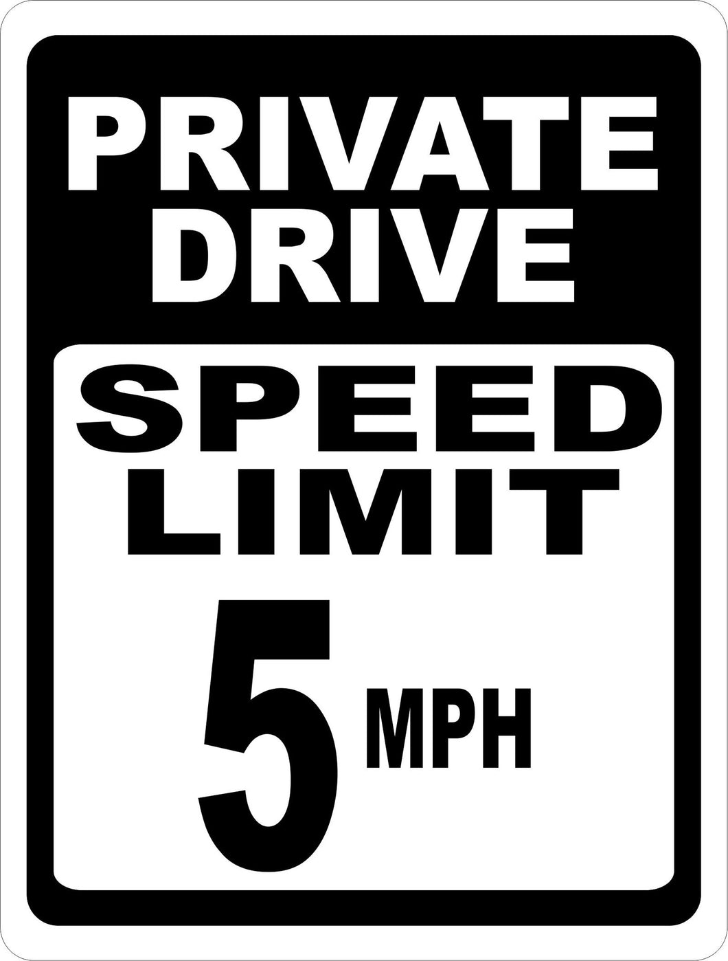 Private Driveway 5 MPH Sign - Signs & Decals by SalaGraphics