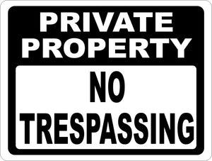 Private Property No Trespassing Sign - Signs & Decals by SalaGraphics