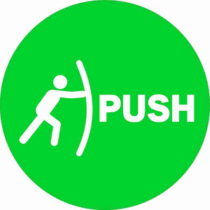Push Pull Decal Pair 10-Pack (5 of each)