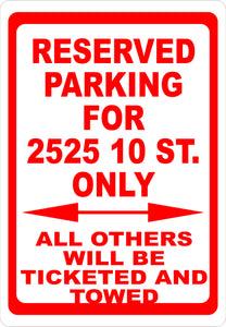Custom Reserved Parking Sign - Signs & Decals by SalaGraphics