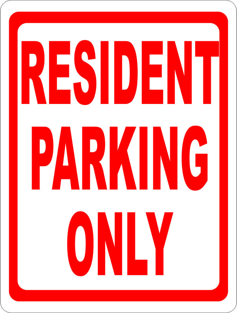 Resident Parking Only Sign - Signs & Decals by SalaGraphics