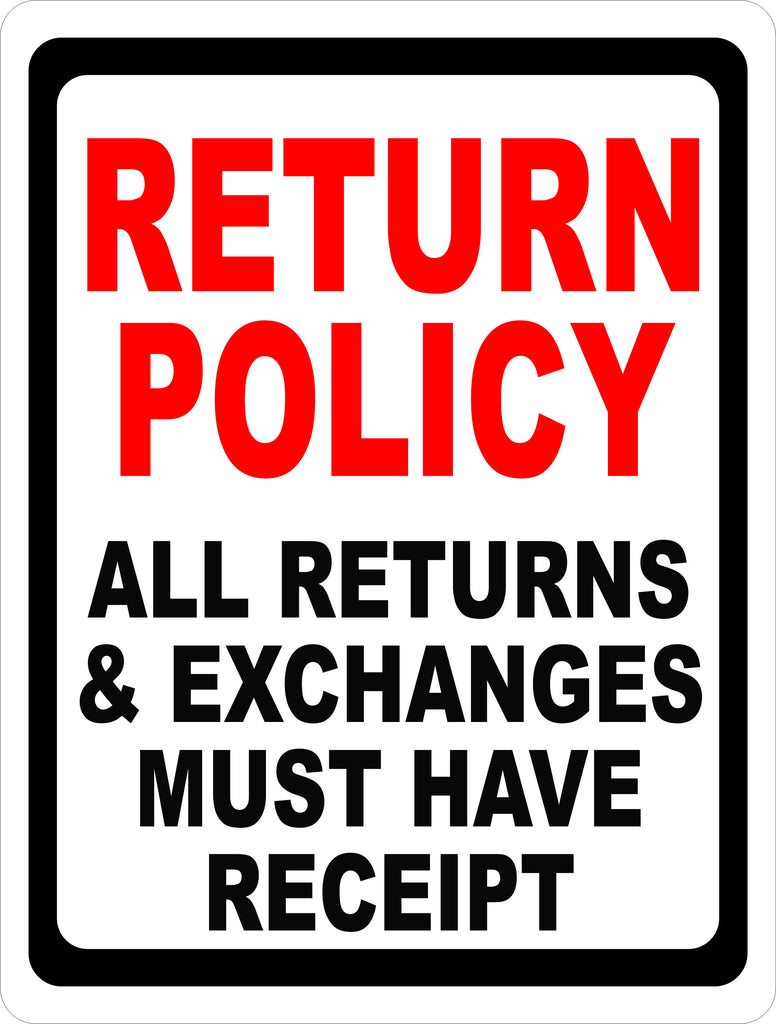 Return Policy Sign
