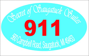 Custom Hotel 911 Sign - Signs & Decals by SalaGraphics