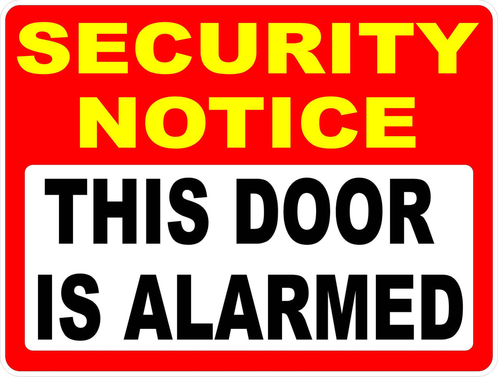Security Notice This Door is Alarmed Decal  sc 1 st  Signs by SalaGraphics & Security Notice This Door is Alarmed Decal u2013 Signs by SalaGraphics